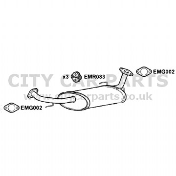 KIA SORENTO DIESEL 2.5 ATV/SUV MODELS 12/2003 TO 10/2006 EXHAUST MIDDLE  BOX EXKA3011